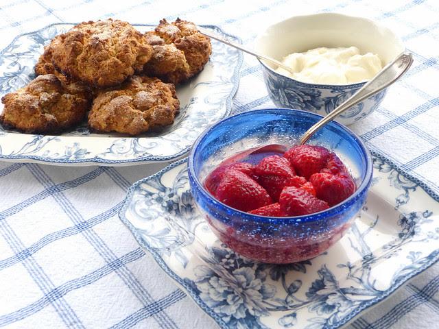 Oatmeal Strawberry Shortcakes
