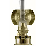 8.5 inch Gold and Clear Traditional Oil Pantry Lamp 33906504