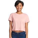 Next Level N5080 Ladies 3.5 oz Festival Cali Crop T-Shirt Desert Pink