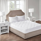Sleep Philosophy Cooling and Warm Reversible Mattress Pad White Twin