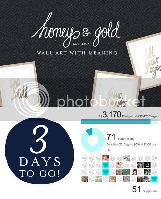 Honey & Gold Pozible campaign