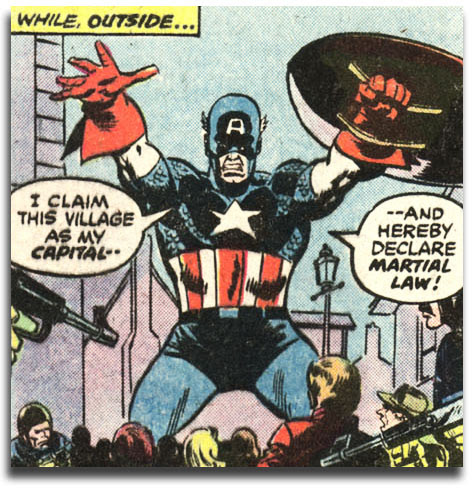 Captain America #221 - Ameridroid declares martial law!