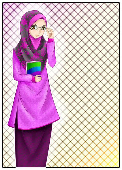 mawar mrah brduri copy gambar wanita muslimah