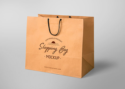 Free Shopping Bag Mockup | ZippyPixels