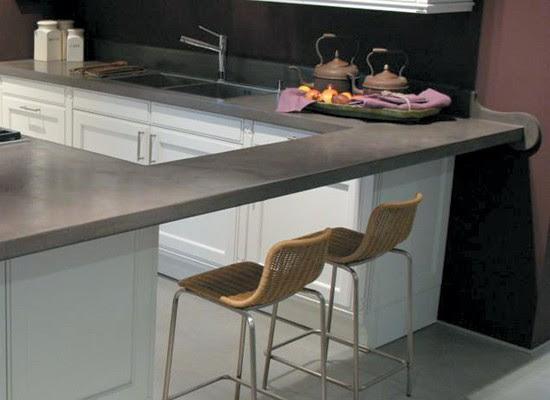 10 estilos de cocina con cemento alisado blog y arquitectura for Cocinas modernas en cemento