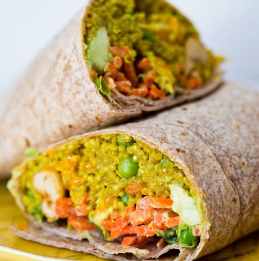 Curried Quinoa Wrap with Spring Peas (with images, tweets) · Gloriakemp
