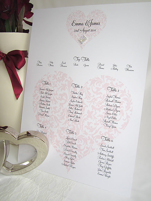 Romantic Ideas for your Wedding Seating Plan