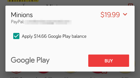 Play Store Has Started Allowing Split Payments Between Google Play Credit And Another Payment Method