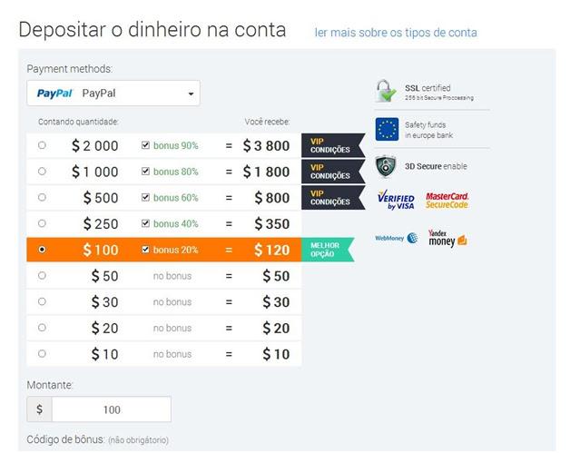 depositar paypal iq option dinheiro deposit ganha ganhar forex