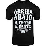 ShirtBANC Arriba Abajo Al Centro Pa Dentro Mens Shirt Camisa Para Los Borrachos (Black