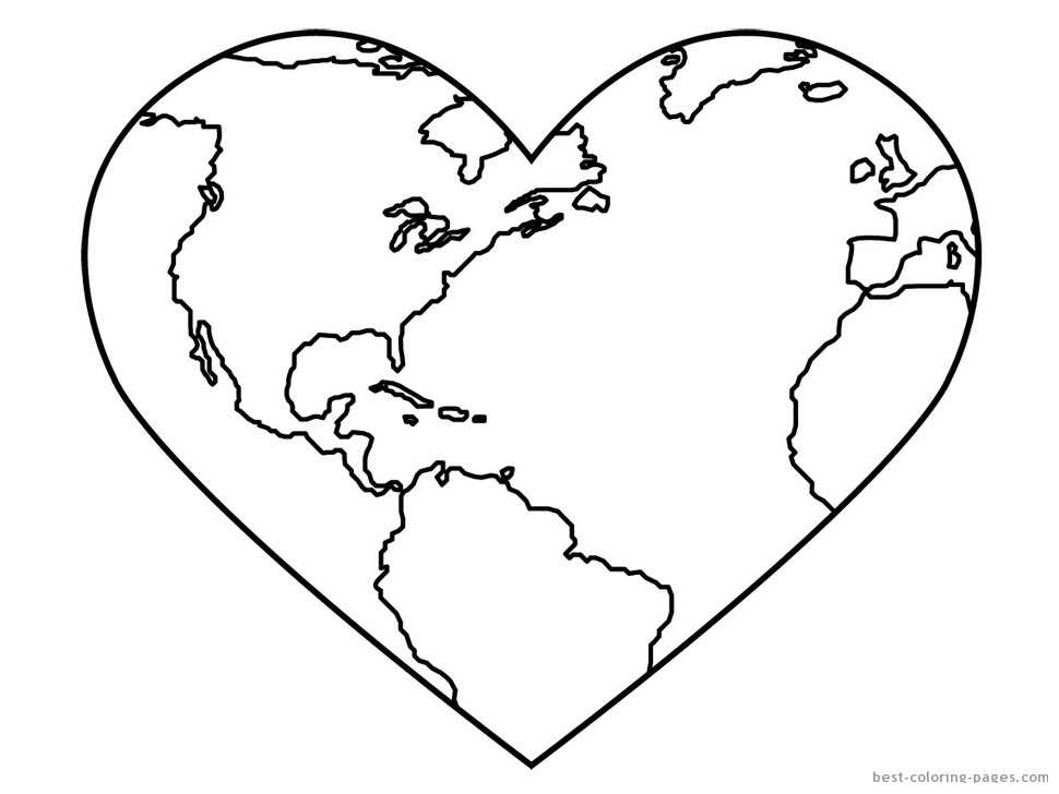Earth Coloring Pages Printable | Clipart Panda - Free ...