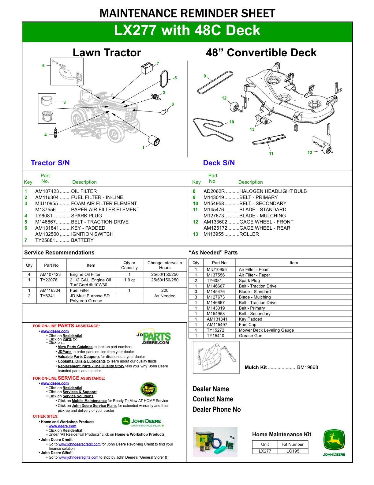 33 John Deere 48c Mower Deck Parts Diagram