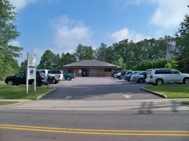 The busy Unemployment Office in Franklin, NC. Photo taken by Bobby Coggins on July 30, 2010.