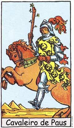 Cavaleiro de Paus no Tarô Rider-Waite-Smith