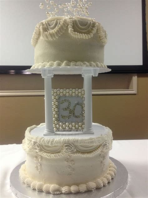 Old style wedding anniversary cake to match their wedding