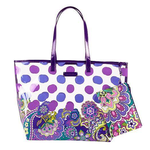 Ebay Vera Bradley Beach Towel: Clear Handbags: Vera Bradley Clear Tote Bags