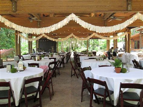 Stringing lights and banners under the Pavilion #wedding #