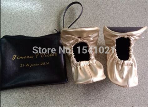 2015 wedding guest favor cheap foldable ballet slippers