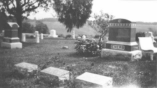 Evers plot at Cherokee Cemetery