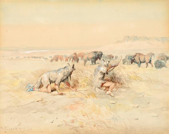 Charles Marion Russell, Hunting Buffalo
