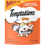 Temptations Whiskas Treats for Cats, Tantalizing Turkey Flavor - 6.3 oz