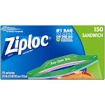 Ziploc Smart Zip Sandwich Bags - 170 count
