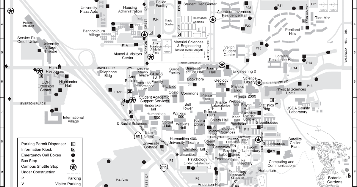 Campus Map Ucr | Zip Code Map on