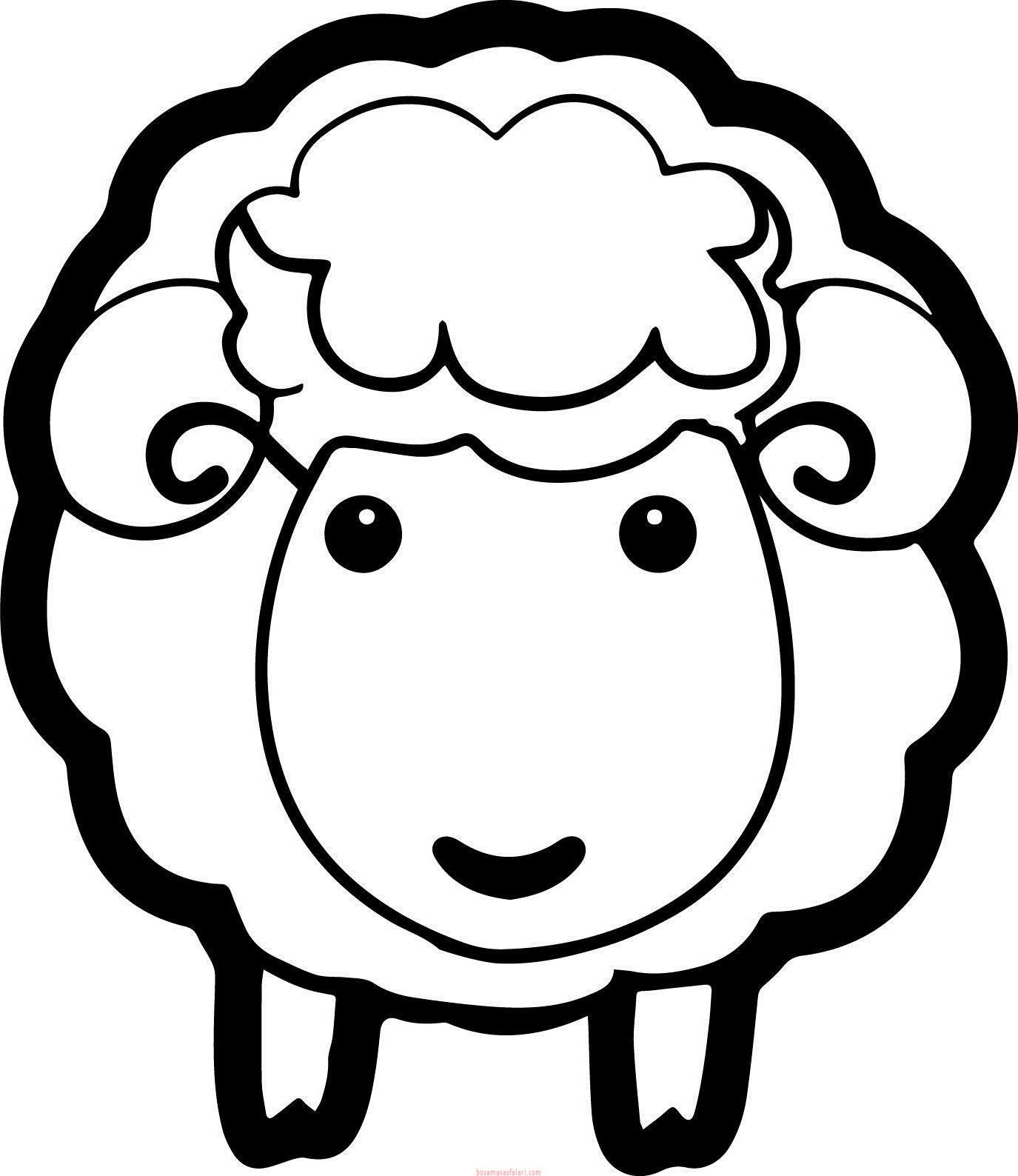 Koyun Boyama Sayfaları Sınıf öğretmenleri Için ücretsiz özgün