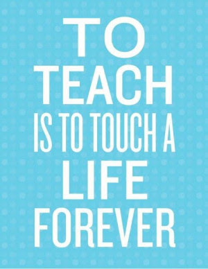 Positive Quotes For Teachers Quotesgram