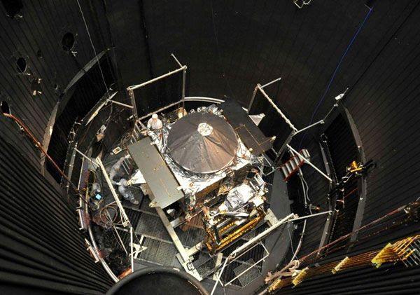 NASA's MAVEN spacecraft undergoes thermal vacuum testing at the Lockheed Martin facility in Colorado.