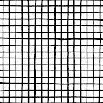 "Ink Checks Black/White Palette Outdoor Floor Cushion by Anna Joseph - 26"" x 26"" x 6"""