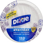"Dixie Everyday Plates, 10-1/16"" - 150 count"