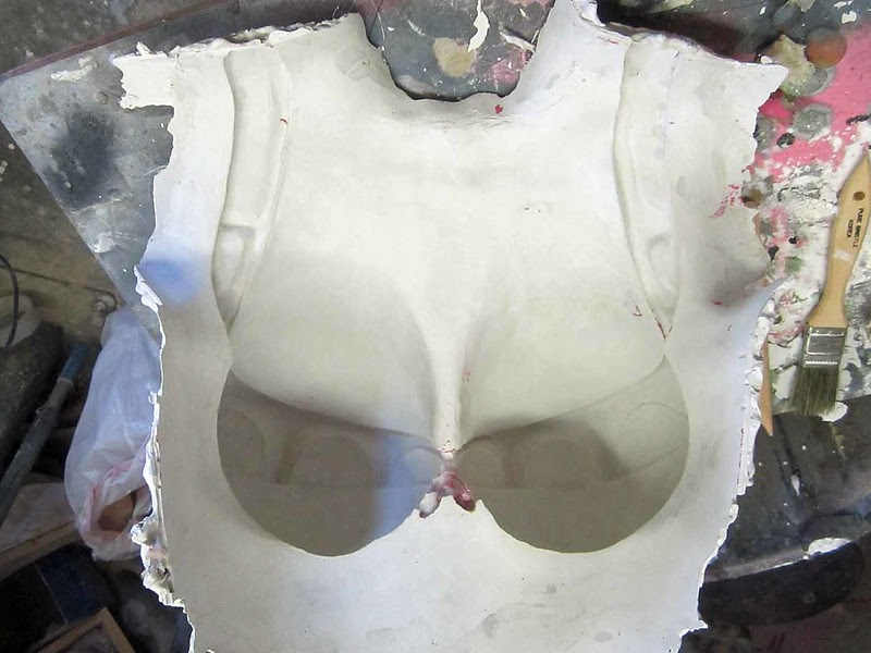 Stone Mold for Prosthetic Breasts