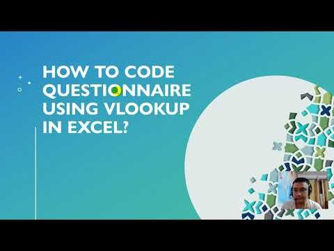 Using VLOOKUP function in Excel to code questionnaire