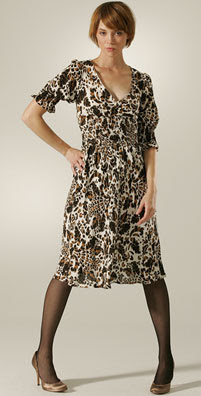 Diane von Furstenberg Martina 3/4 Puff Sleeve Dress