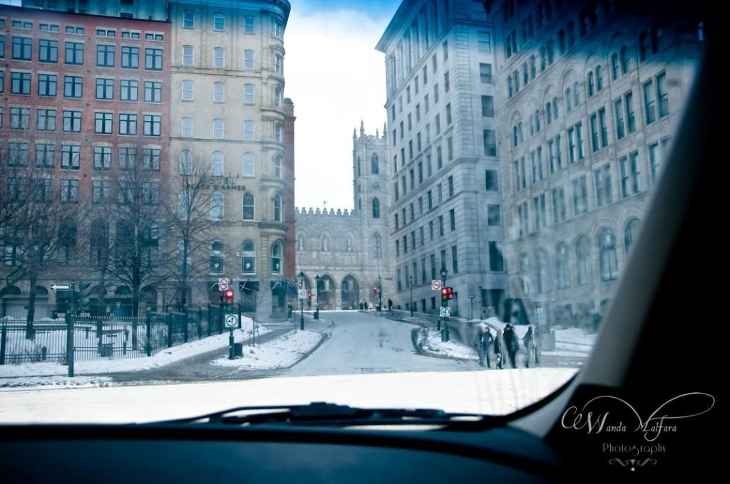 Wed Feb 30,2012, A drive-by shooting of the entrance to Old Montreal.