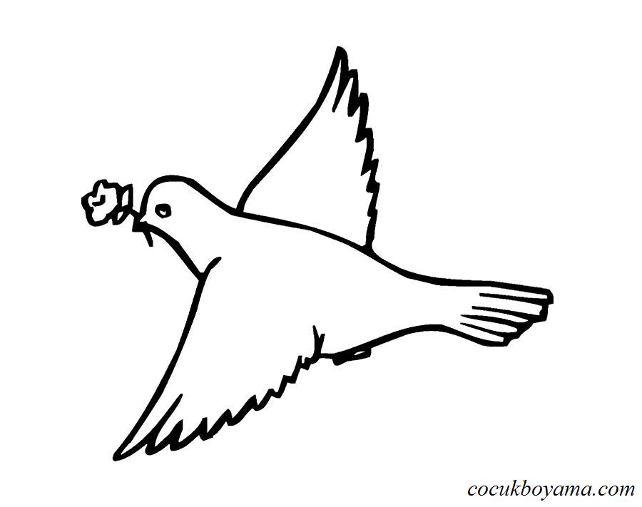 Güvercin 27 ücretsiz Boyama Resimleri