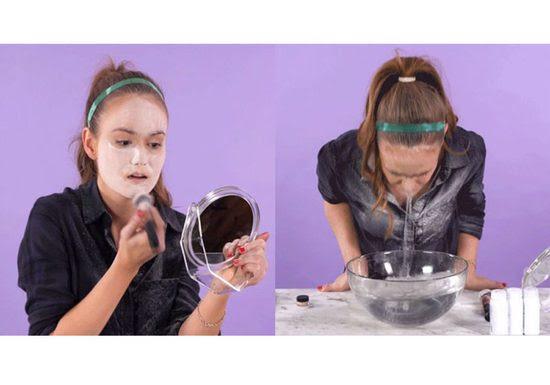 غمست وجهها ببودرة الاطفال والماء... حيلة كورية فعاليتها مذهلة!