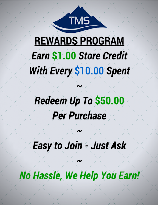 TMS – Launches Customer Rewards Program