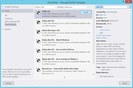 Usar SQLite en Apps Windows 8.1