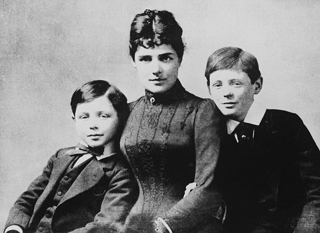 Brothers Jack and Winston with their mother