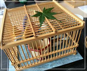 テーブルの上に鳥かご!という素敵なプレゼンテーションのお造り。