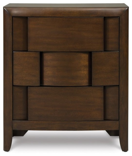 Twilight 3 Drawer Nightstand - modern - nightstands and bedside ...