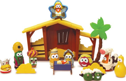 VeggieTales Nativity Set Only $15 (down from $29.99) + $5 DVDs!