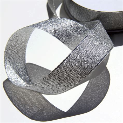 Silver Gift Ribbon   Silver Metallic Ribbon   Metallic