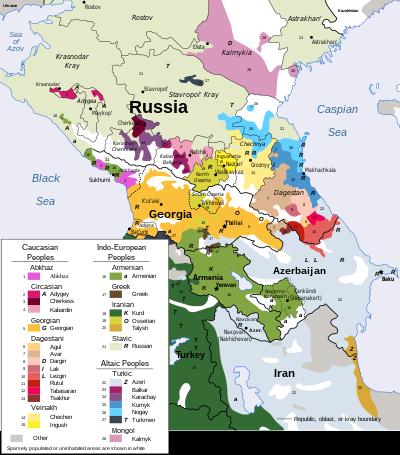 O patchwork etnolingüístico do moderno Cáucaso