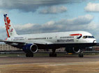British Airways Boeing 757-236 G-BMRC wearing Barcelona Olympics livery.