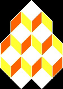 Six or Seven Cubes optical illusion