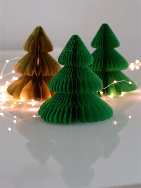 christmas tree tissue paper honeycomb wedding party