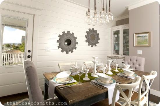 Dining Room Plank Walls